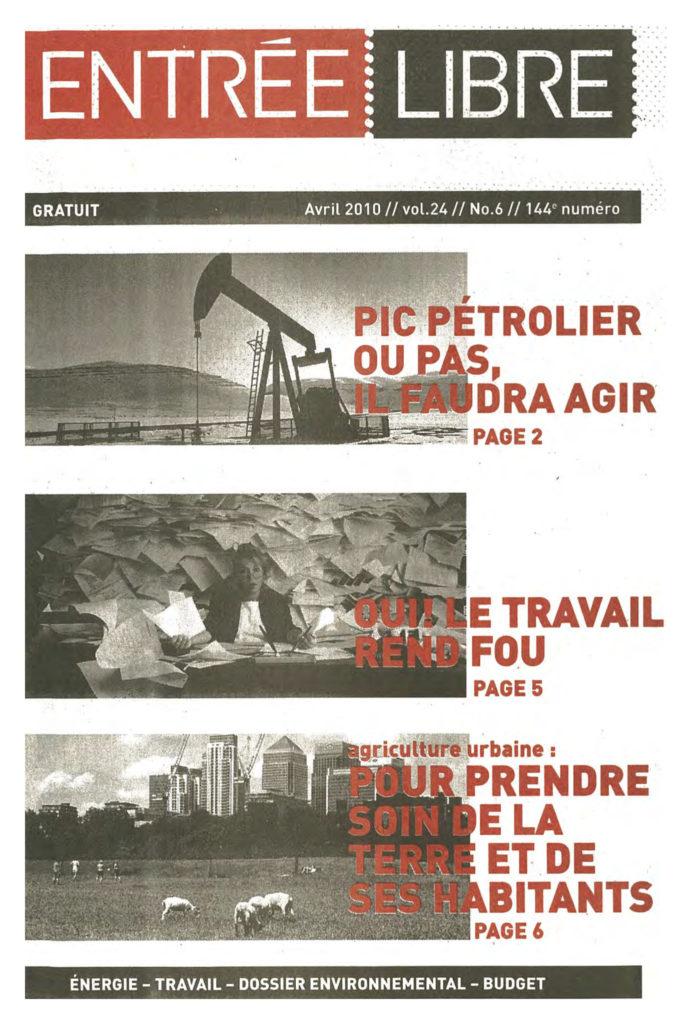 Couverture de la parution #144 Mars 2010