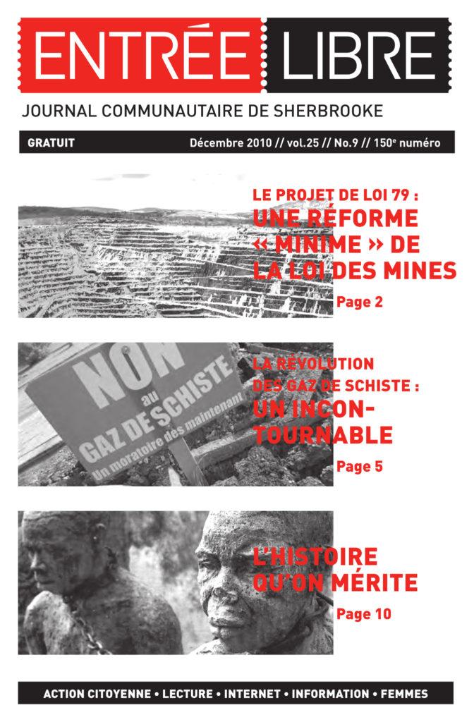 Couverture de la parution #150 Décembre 2010