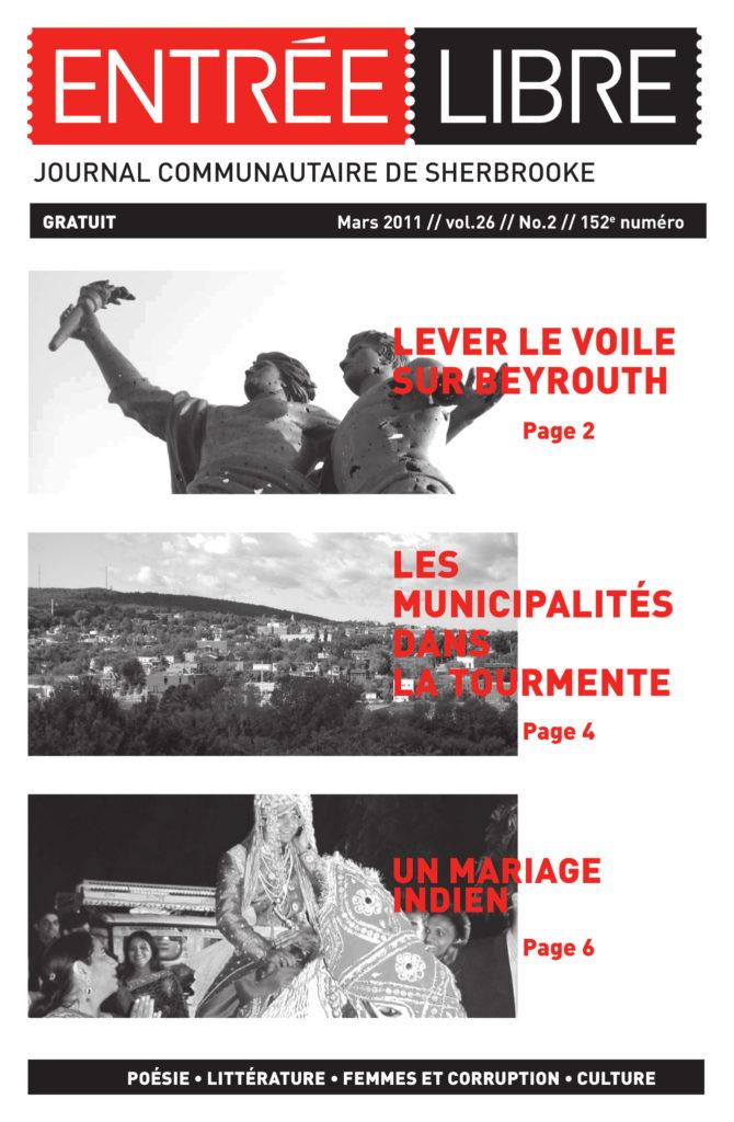 Couverture de la parution #152 Mars 2011
