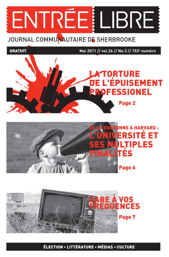 Couverture de la parution #153 Mai 2011