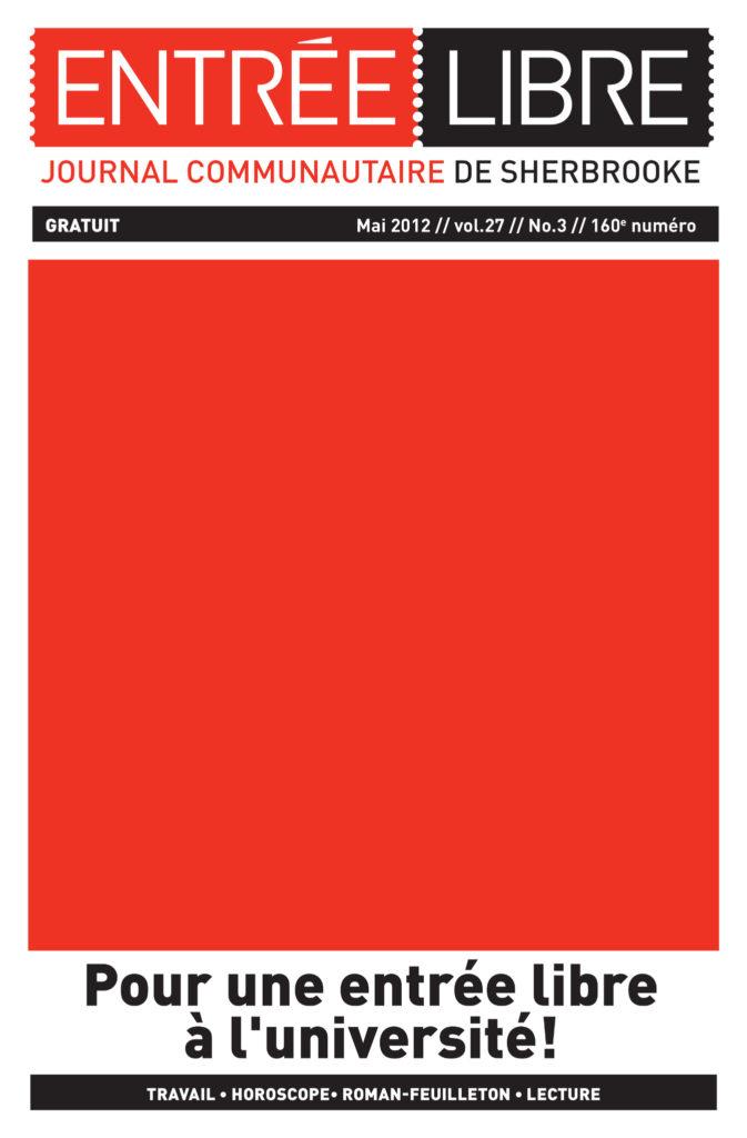 Couverture de la parution #160 Mai 2012