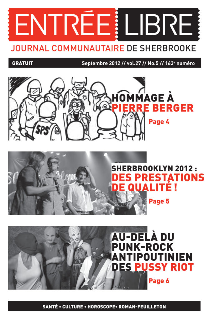 Couverture de la parution #163 Septembre 2012