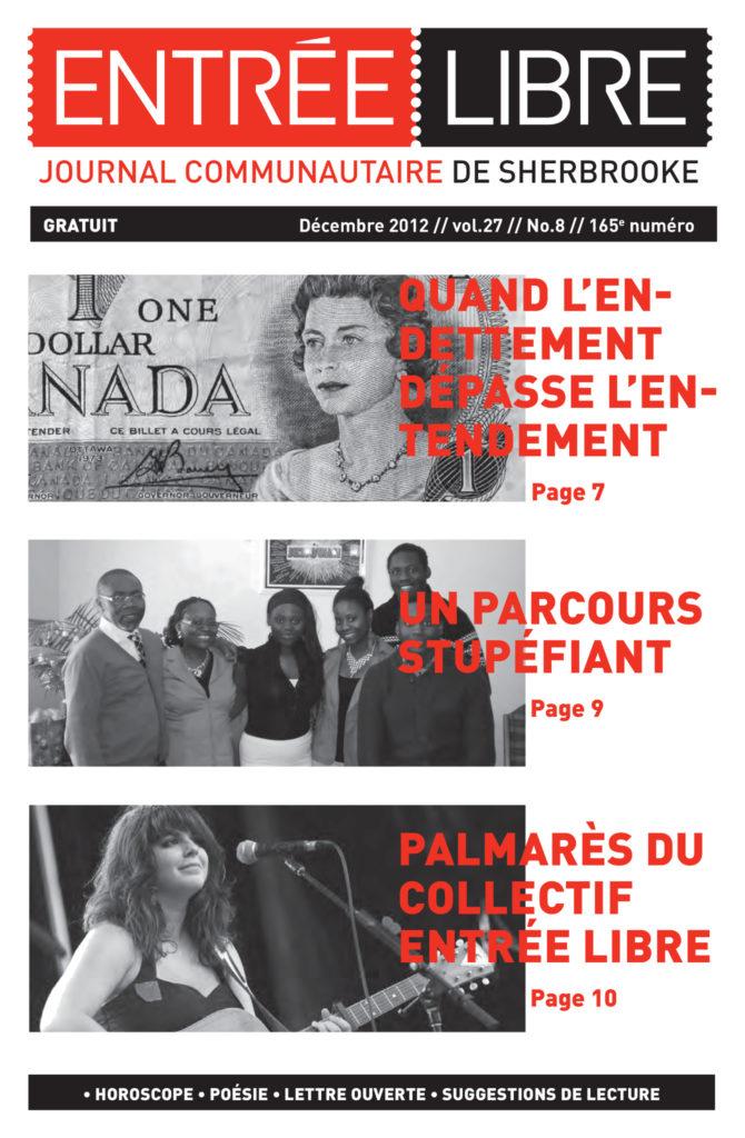 Couverture de la parution #165 Décembre 2012
