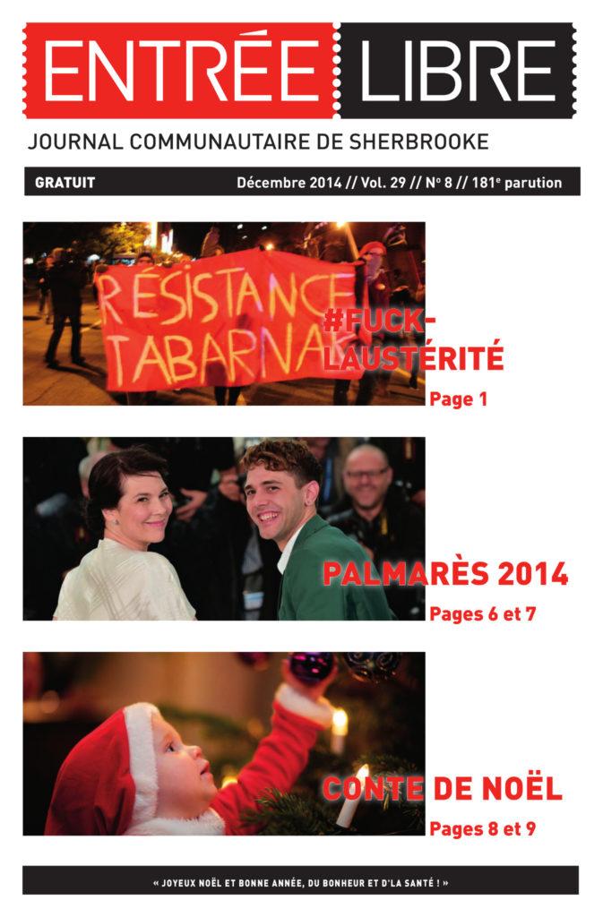 Couverture de la parution #181 Décembre 2014