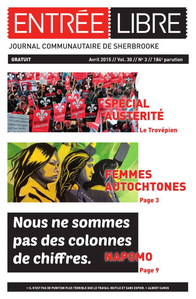 Couverture de la parution #184 Avril 2015