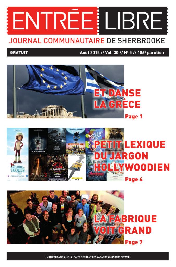 Couverture de la parution #186 Août 2015